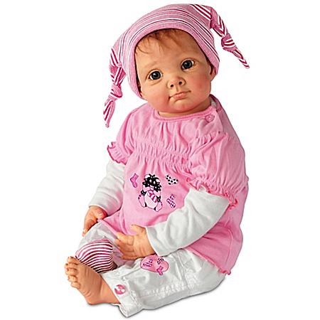 Julia And The Sock Goblin Lifelike Baby Girl Doll