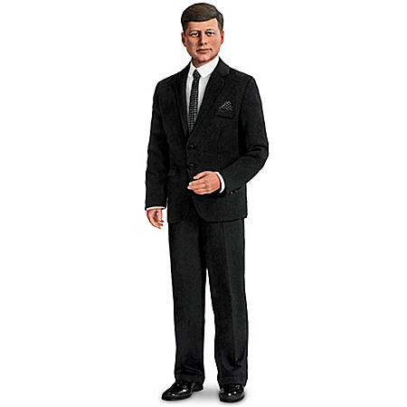 President John F. Kennedy Talking Commemorative Poseable Portrait Doll 302241001