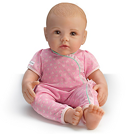 Lifelike Toy Baby Doll of Ashton Drake So Truly Mine: Blonde Hair Brown Eyes