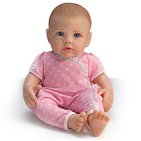 Lifelike Play Doll of Ashton Drake So Truly Mine: Light Brown Hair Brown Eyes