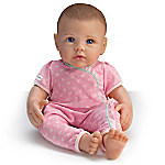 So Truly Mine Lifelike Baby Doll For Kids Ages 3+ - Dark Brown Hair, Blue Eyes