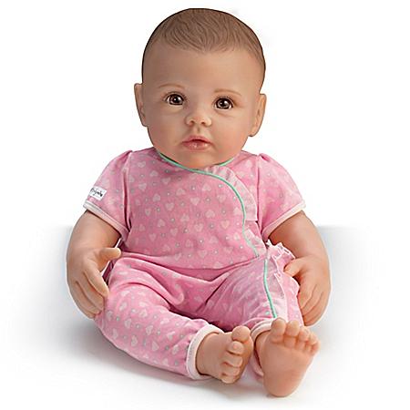 Lifelike Play Doll of Ashton Drake So Truly Mine: Dark Brown Hair Brown Eyes