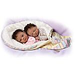 Waltraud Hanl Jada And Jayden Lifelike Twin Baby Doll Set