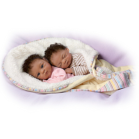 Waltraud Hanl Jada And Jayden Lifelike Twin Baby Doll Set