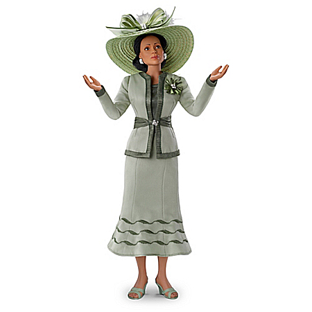 Grace African-American Poseable Portrait Resin Doll With Sunday Hat
