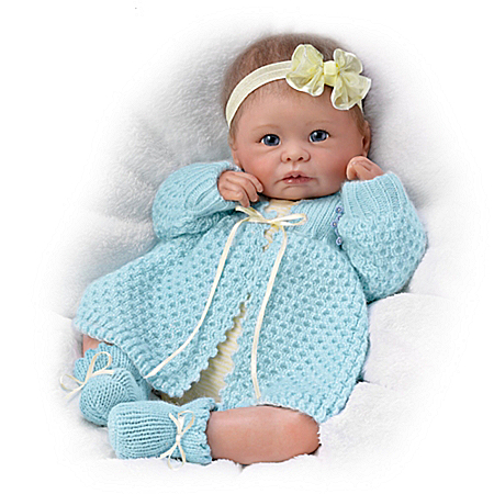 Linda Murray Sweetly Snuggled Sarah Weighted Lifelike Baby Girl Doll