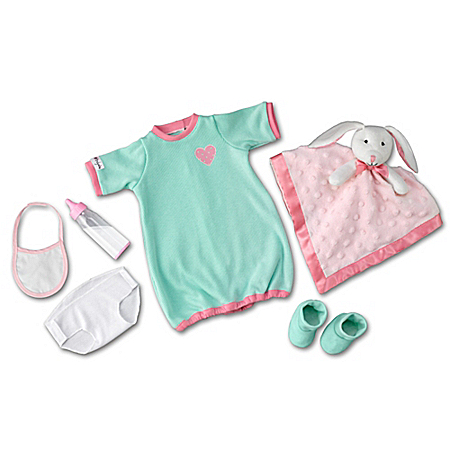 Nighty, Night Baby Doll Accessory Set: Sleeper Clothes Set For So Truly Mine Dolls