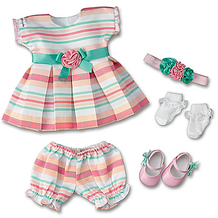 Party Princess Baby Doll Accessory Set: Dress Clothes Set For So Truly Mine Dolls
