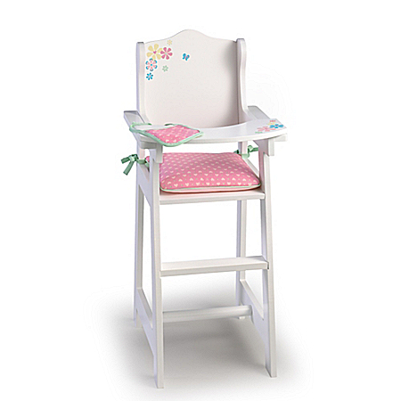 High Chair Baby Doll Accessory Set With Bib