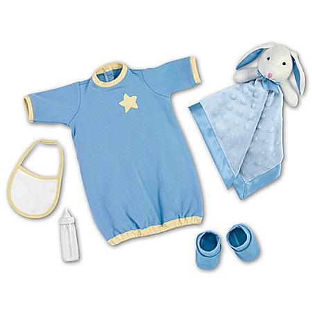 Starry Night Blue Sleeper Baby Doll Accessory Set