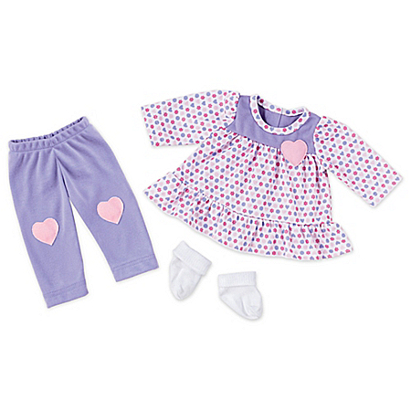 So Truly Mine Happy Hearts Play Outfit Baby Doll Accessory Set