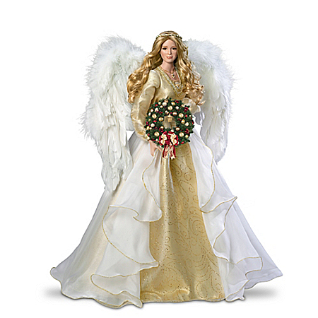 Thomas Kinkade Seasons Of Joy Christmas Angel Portrait Doll