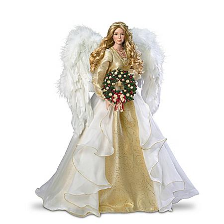 Thomas Kinkade Seasons Of Joy Christmas Angel Portrait Doll