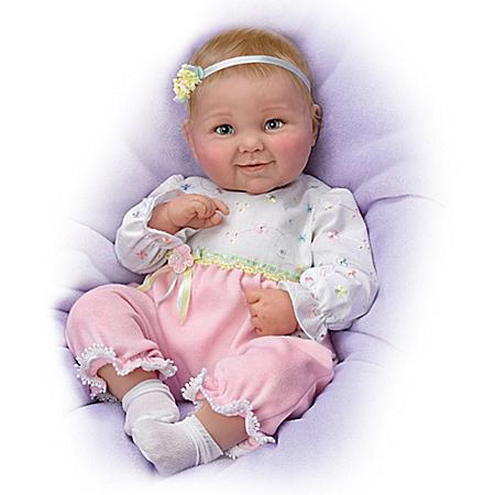 Cheryl Hill Sweet Cheeks Giggling Lifelike Baby Girl Doll