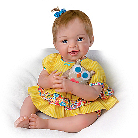 Waltraud Hanl Owl Always Love You! Lifelike Baby Girl Doll