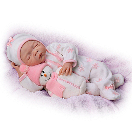 You Melt My Heart So Truly Real Lifelike Baby Doll With Snowman Plush