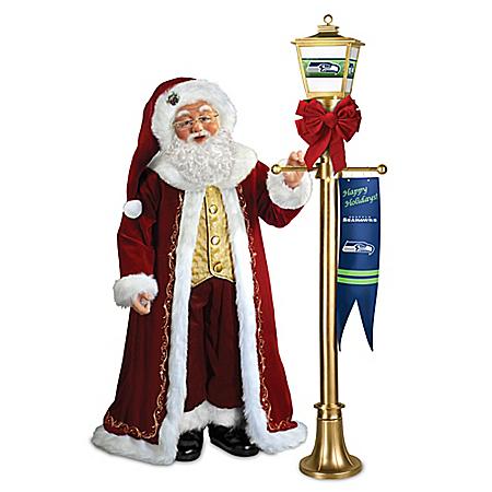 Karen Vander Logt Light Up The Season Seattle Seahawks Santa Claus Doll