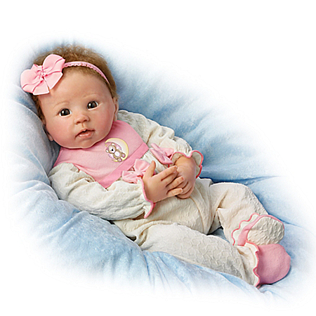Linda Murray Lifelike and Weighted 20 Inch Baby Girl Doll from Ashton Drake