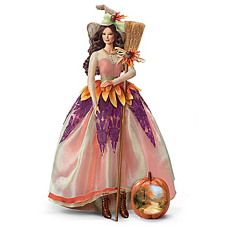 Thomas Kinkade Autumn Lane Witch Portrait Doll