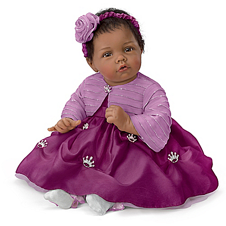 Elly Knoops Pretty As A Princess Poseable Lifelike Baby Girl Doll