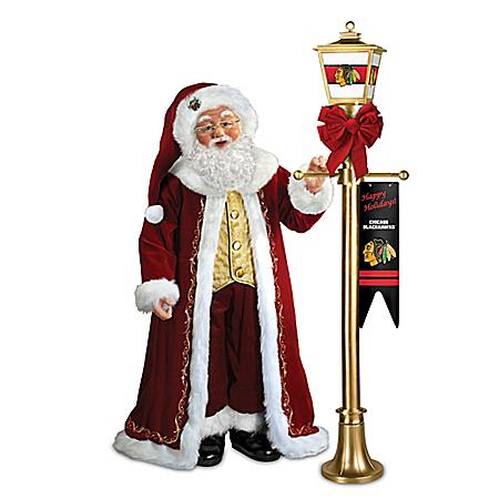 Light up the season chicago blackhawks 174 santa portrait doll