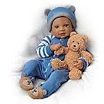 Waltraud Hanl Calvin And Teddy Lifelike Baby Boy Doll