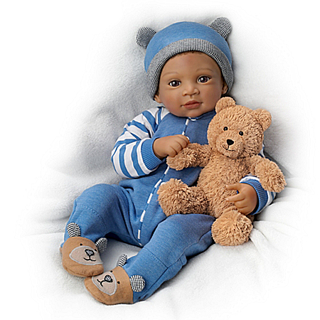Waltraud Hanl - Calvin And Teddy Lifelike Baby Boy Doll