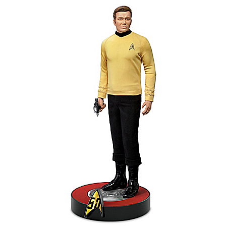Captain Kirk STAR TREK 50th Anniversary Light Up Figure 302446001
