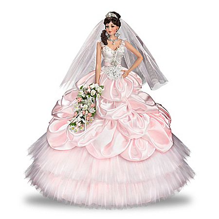Mirella Handcrafted Porcelain Bride Doll With Swarovski Crystals