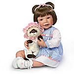 Waltraud Hanl Emma And Baby Boots Lifelike Child Doll