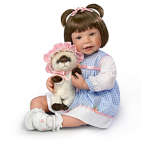 Waltraud Hanl Emma And Baby Boots Lifelike Child Doll