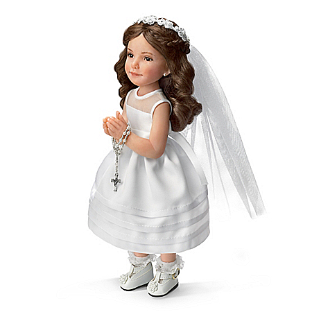 My First Religious Holy Communion Fine Porcelain Child Doll