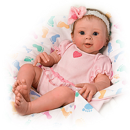 Ella Realistic Touch-Activated Weighted Baby Doll