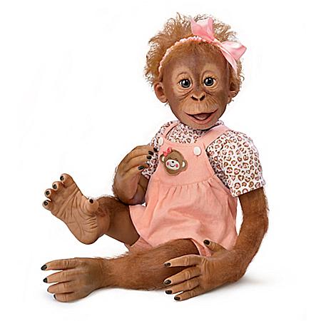 Monkeying Around With Momoko Realistic Monkey Doll