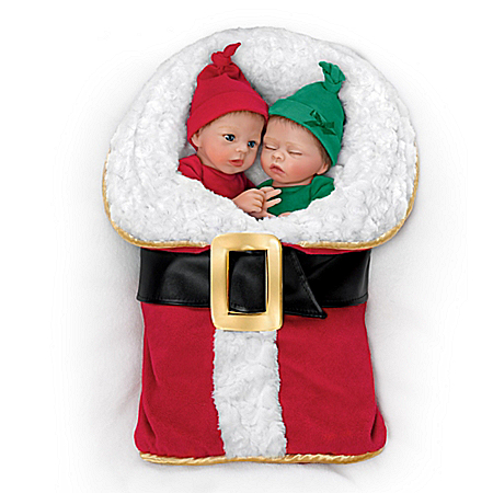 Wrapped Up In Christmas Twin Baby Doll Set: Nick And Noelle