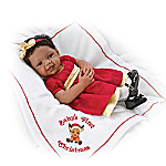 Baby's First Christmas Baby Doll With Bed Time Accessories