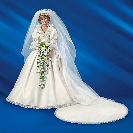 Princess Diana Collector's Edition Porcelain Bride Doll