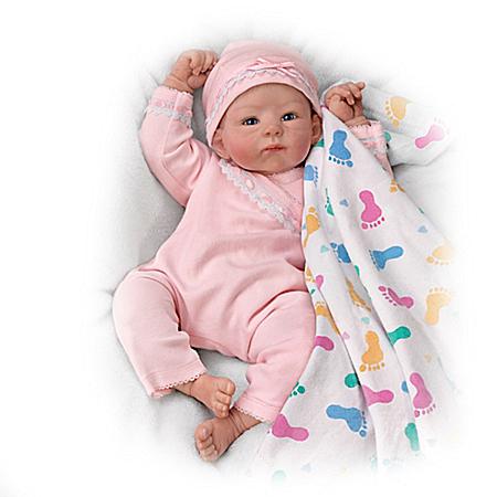 Brianna's Littlest Feet Lifelike Baby Doll