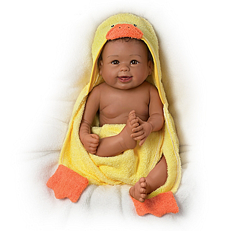 Rub-A-Dub-Dub, Layla Baby Doll With Ducky Towel