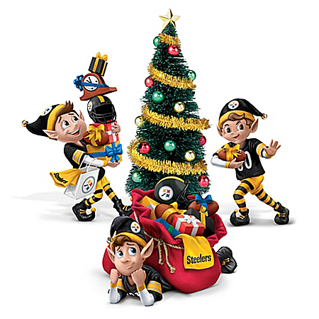 Pittsburgh Steelers NFL Elves Christmas Figure Collection