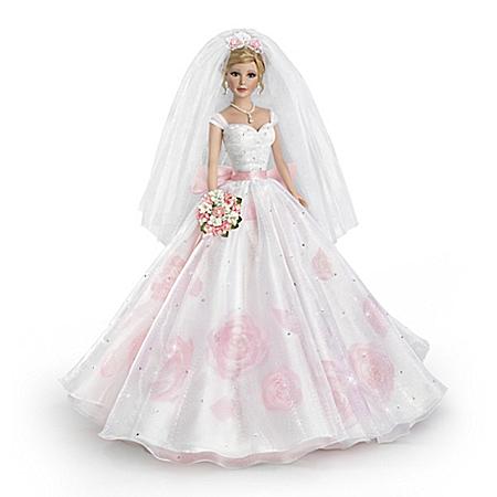 Sandra Bilotto Love In Bloom Bisque Porcelain Bride Doll