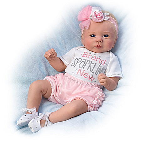Kaylie's Brand Sparkling New So Truly Real Baby Doll