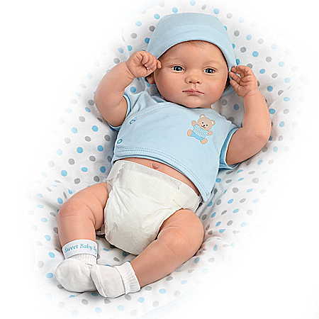 A Little One To Love: Sweet Baby Boy Lifelike Baby Doll