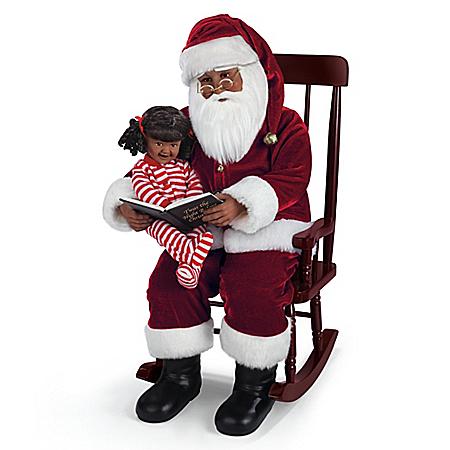 Karen Vander Logt Santa And Little Girl 2-Doll Set: Ashton Drake Galleries