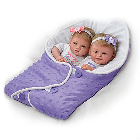 Mayra Garza Hope And Faith Lifelike Twin Baby Doll Set