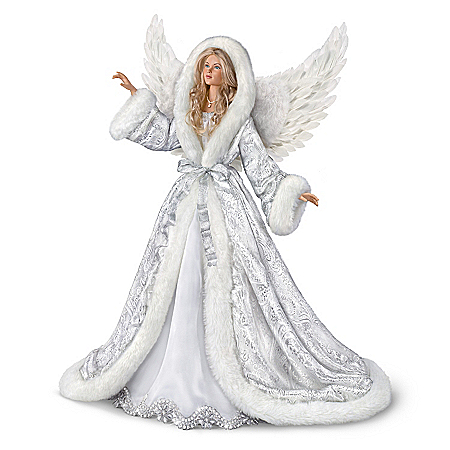Ashton Drake Silent Night Musical Angel Doll with Robe that Lights Up: 24″ Tall