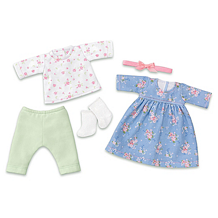 Fun Floral Fashions 5-Piece Accessory Set For 10 Dolls