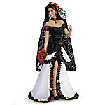 Mariana Dia De Los Muertos Costume Portrait Doll With Sugar Skull Mask