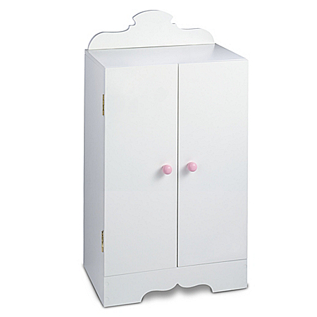 White Doll Armoire: Baby Doll Furniture Accessories