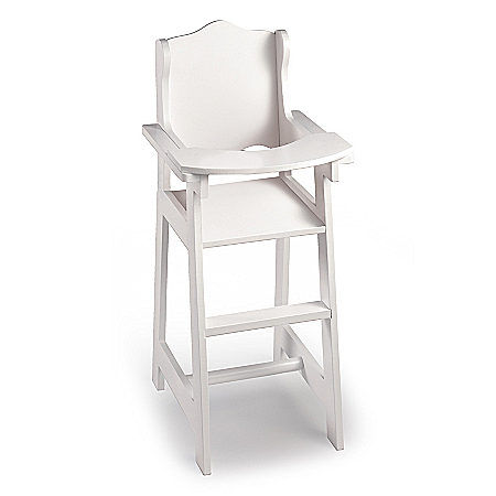White Doll High Chair: Baby Doll Furniture Accessory